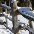 Winter fence — Stockfoto #1384677