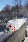 Christmas mouse — Stock Photo