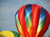 Colorful hot air balloons — Stock Photo