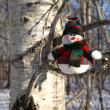 Snowman waiting for Christmas — Stock Photo