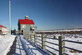 Snow trail — Stock Photo