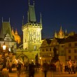 Prague's Charles Bridge tower — Stock Photo