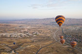 Balloons over Cappadocia — Stock Photo