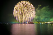 Fireworks at Sitges — Stock Photo