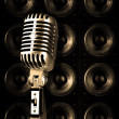 Royalty-Free Stock Photo: Retro chrome microphone