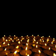 Glowing candles — Stock Photo