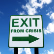Exit from crisis — Stock Photo