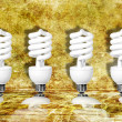 Royalty-Free Stock Photo: Four light bulbs