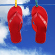 Red flip-flops — Stock Photo