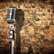 Retro microphone - Stockfoto