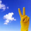 victory sign — Stock Photo