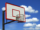 Outdor basketball hoop — Stock Photo