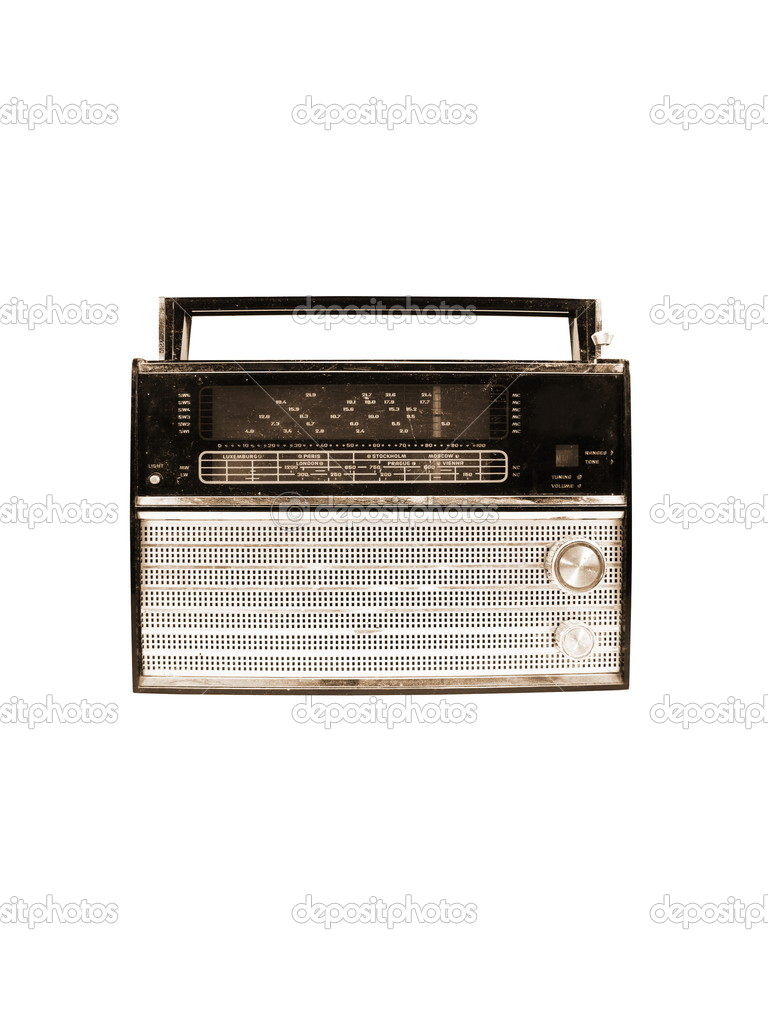 old radio isolated on white background — Stock Photo #1518343