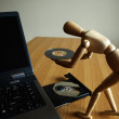 Royalty-Free Stock Photo: Insert cd