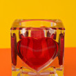 Candlestick with red heart — Stock Photo