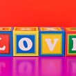 "Colorful word ""love"" — Stock Photo"