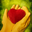 Hands with heart — Stock Photo