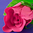 Pink artificial rose - Stock Photo