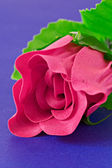 Pink artificial rose — Stock Photo