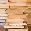 Stock Photo: Stack of old books