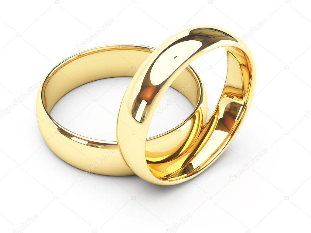 Gold Wedding Rings Clip Art