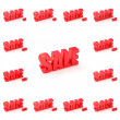 SALE SIGNS WITH DIFFERENT DISCOUNT — Stock Photo