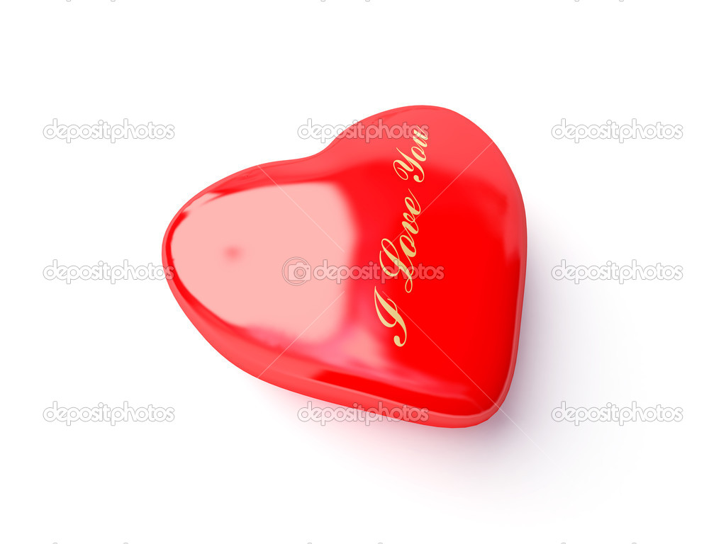 3d heart i love you text — Stock Photo #1398908