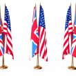 Stock Photo: Flags of Great Britain and the USA