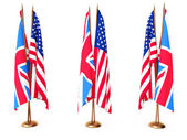 Flags of Great Britain and the USA — Stock Photo