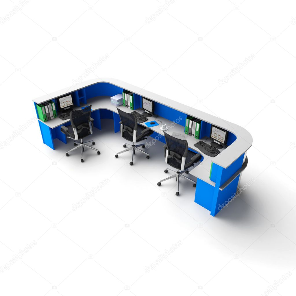 3d office or hotel Reception — Stock Photo #1410053
