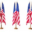 Flags of the United State isolated white — Stock Photo