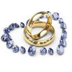 anéis em coração de diamante — Foto Stock