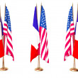 Stock Photo: FLAGS OF FRANCE AND USA