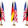 Royalty-Free Stock Photo: Flags of Germany and the USA