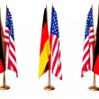 Flags of Germany and the USA — Stock Photo
