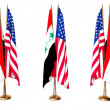 Flags of Iraq and the USA — Stock Photo