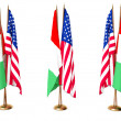Stock Photo: Flags of Italy and the USA