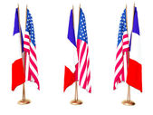 FLAGS OF FRANCE AND USA — Stock Photo