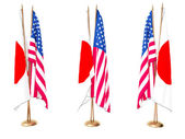 Flags of Japan and the USA — Stock Photo