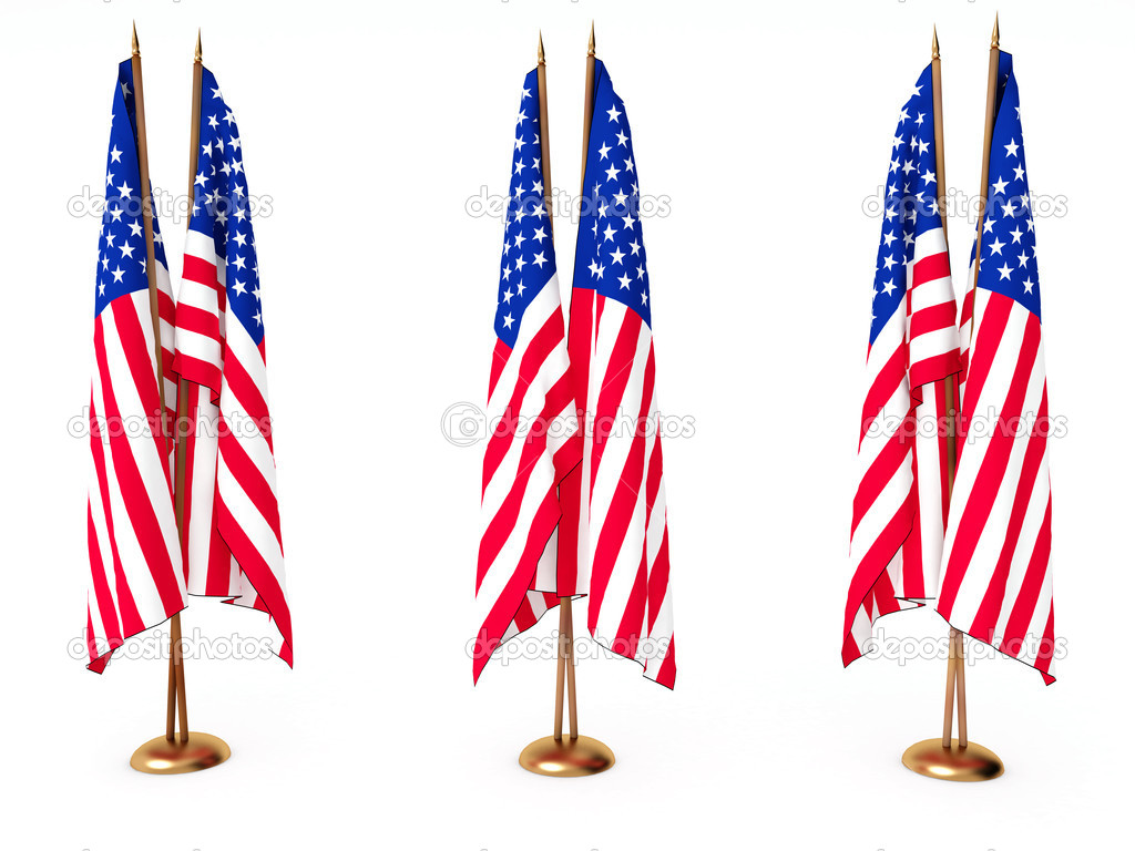 Flags of the United State isolated white — Stock Photo #1428680