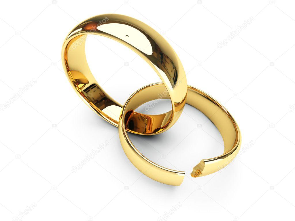 an 233 is de casamento de ouro quebrado fotografias de stock