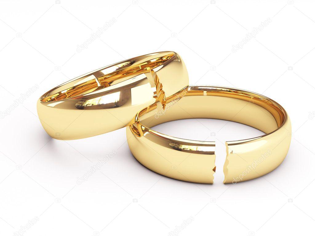 anillos de boda oro rotos foto de stock 169 sprinter81