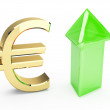 Golden EURO symbol — Stock Photo