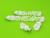 Energy Efficient Fluorescent Light Bulb — Stock Photo