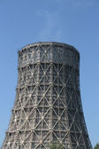 Steam going out of a cooling tower — Stock Photo