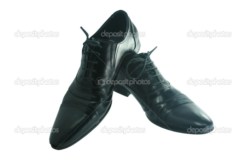Black shoes isolated on the white background — Stock Photo #2197457