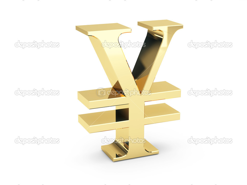 Golden yen symbol — Stock Photo #2197557