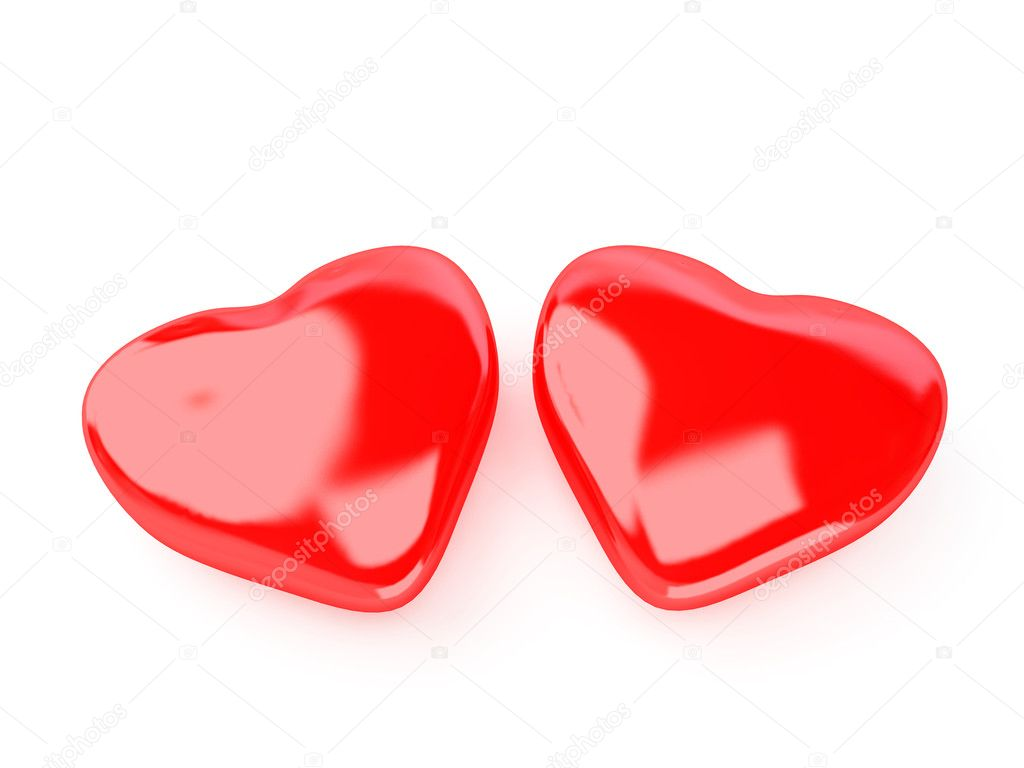 3d isolated red hart — Foto Stock #2198499