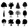 Trees icon - Stock Vector