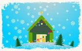 Noel evi — Stok Vektör